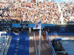 男子200mバタフライ表彰式