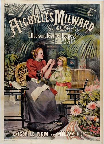 006- Affiche propaganda de agujas de coser Milvard-siglo XIX