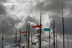 Riders on the storm (The Family Dog) Tags: sea sky storm haven colors clouds waddenzee boat ship wind flag north nes mast ropes