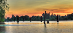 Derby Reach - Fraser River Panorama (janusz l) Tags: longexposure sunset panorama geotagged langley fraserriver hdr piles janusz leszczynski derbyreach geo:lat=49208082 geo:lon=122620823 003701