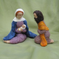 Needle Felted Nativity (haddy2dogs) Tags: christmas felted needle etsy nativity haddy2dogs