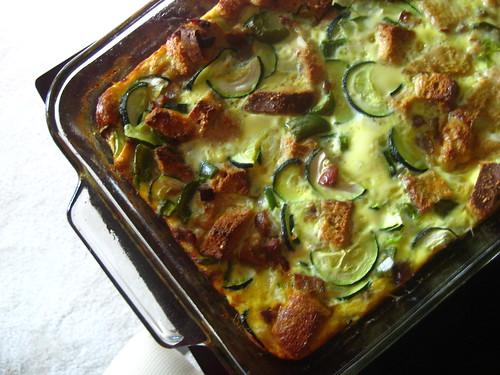 zucchini + sausage breakfast casserole