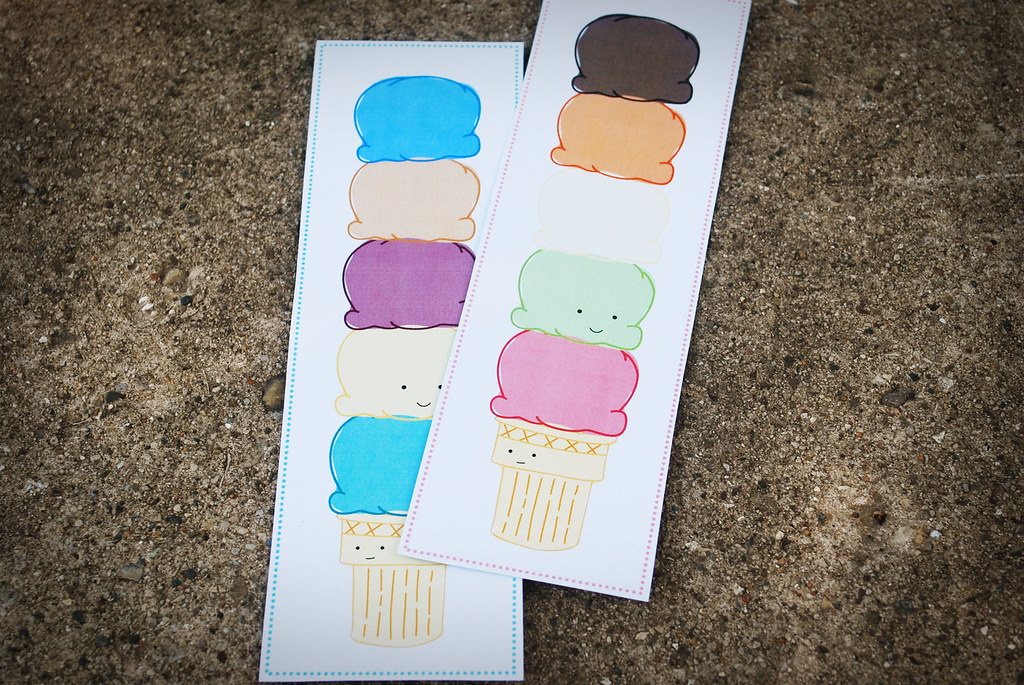 Ice Cream Printable Bookmark