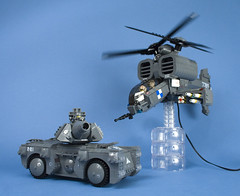 LEGO Iron Mountain Legion Attack Helicopter and Urban Tank (Happy Weasel) Tags: mountain iron lego attack helicopter dual 2009 legion rotor notar bley brickfair