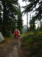 Allison on the Long Canyon Trail, Selkirk Mountains, North Idaho.