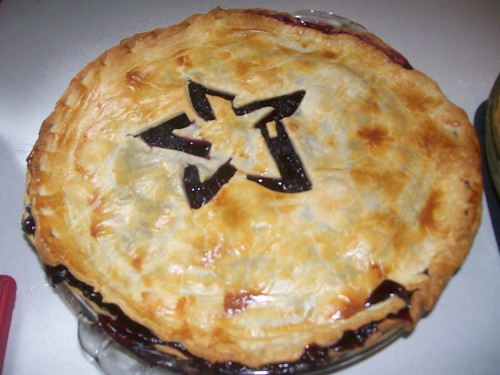 Pentagram Blackberry Pie