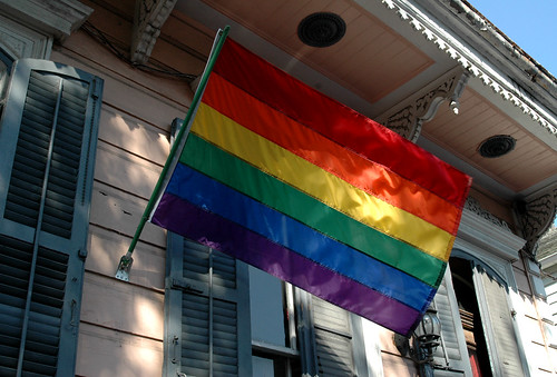 Gay Pride Flags in New Orleans Crop (Dysonstarr) Tags: rainbow neworleans ...