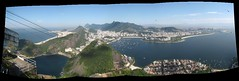 Rio-Panoramic (benyeuda) Tags: ocean city brazil sky panorama mountains southamerica rio riodejaneiro clouds marina buildings boats harbor ships panoramic yachts atlanticocean dejaneiro