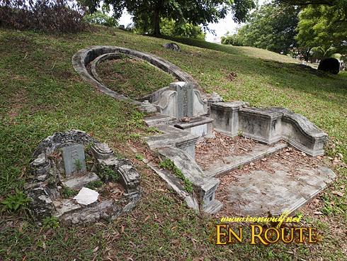 Malacca Bukit China grave and guardian stone