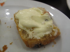 Then top with clotted cream