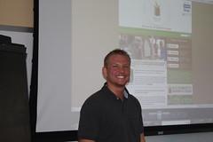 Our energetic Board member, Jordan Blair, walked us through the new website design