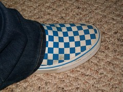 Sexxy Vans (Screamo Girl= SCREAMO) Tags: blue light white black glass gold fan shot clear sword vans slip checkered ons