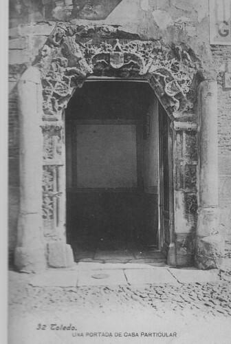Fachada del Palacio de los Señores de Peromoro en su primitivo emplazamiento en la Calle del Instituto.