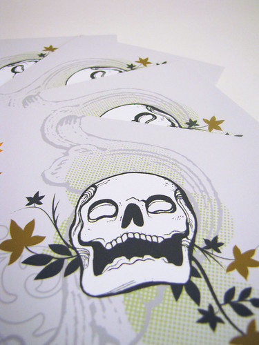Skull with Maple Leaves Card Sets