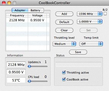 MacBook Air の暴走を coolbook で止める。