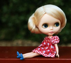 The Red Bench (jaded*mystery) Tags: blonde kenner blythe maryquant redbench