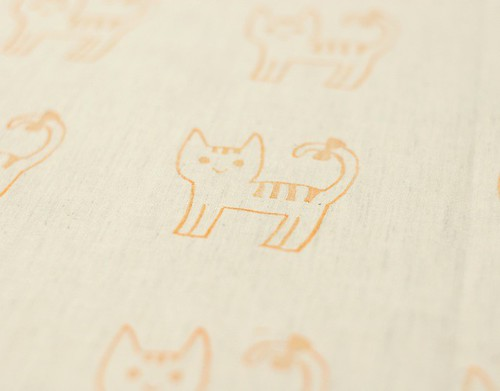 Stamp on fabric