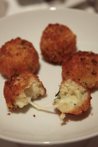 cheesy risotto balls