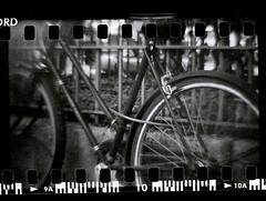 bike (magnumleigh) Tags: camera new york nyc bw bike 35mm toy blackwhite diana push medium format
