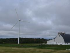 Wind Turbine By Barn (Kurt W.) Tags: windturbine windpower oldnew windfarmwindfarmonnystatert177nearlowville
