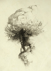 The bearer (Yaroslav Gerzhedovich) Tags: man art pencil paper sketch drawing surrealism edge rough bearer burden pencildrawing pencildrawings