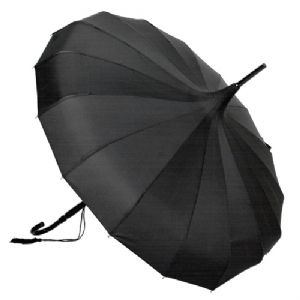 black parasol umbrella