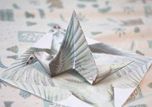 Printed Origami Bird