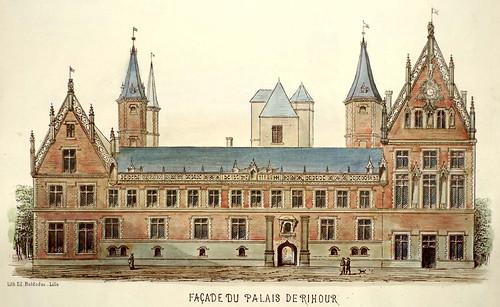 002- Fachada del palacio de Rihour-Lille ancien monumental Edouard Boldoduc  1893