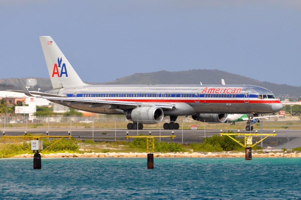 American Airlines (AA) - Boeing 757-200 - N659AA - Pride of American - Queen Beatrix International Airport (AUA), Aruba - Sept. 20, 2009 1311 RT CRP WM