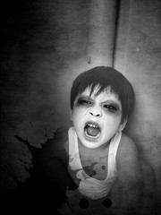 Toshio (Gilbert Rondilla) Tags: pictures camera boy portrait people bw white black texture halloween vertical photomanipulation point photography photo kid scary shoot child philippines horror gilbert filipino digicam notmycamera own pinoy adik borrowedcamera thegrudge juon pns toshio rondilla i733 notmyowncamera polaroidi733 gilbertrondilla gilbertrondillaphotography luisianian polaroid7mpdigitalcamera
