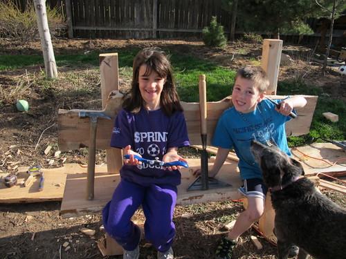 Garden bench love