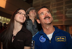 Kimberly Gulevich, the 2010 Weston Youth Innovation Award winner Lesley Lewis, CEO, Ontario Science and Canadian Astronaut Chris Hadfield