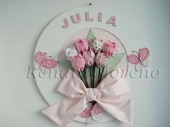 Tulipas....tons de rosa (Ateli Renata Moreno) Tags: quadro tulipas bebe menina decorao tulipa nascimento quadros borboletas tecido quadrinho quadrodematernidade quadrodebebe quadroparabebe decorativoquadrosquadrinhotulipatulipasquadrodematernidadequadrodebebequadroparabebenascimentobebemeninaborboletastecidodecorao