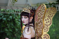 Clockwork Fairy (peasap) Tags: california ca butterfly gold spring wings purple sandiego victorian may auburn steam fairy fantasy stare crown braids clockwork cogs gears elfen steampunk tinkering fairycrown gaslightgathering clockworkfairyprincess