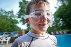 Summer time... (Mike Groseth) Tags: boy summer pool swimming nikon child goggles nephew adobe d700 lightroom3