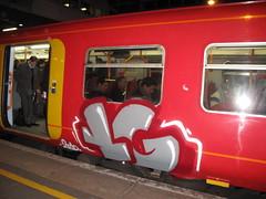 South West trains graffiti (duncan) Tags: london train graffiti trains southwesttrains rollingstock