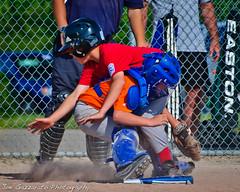 Safe! (Joe Gazzarato) Tags: summer sports boys sport happy baseball michigan places player safe players determined catcher score collision macomb littleleague joegazzaratophotography wwwjoegazzaratocom