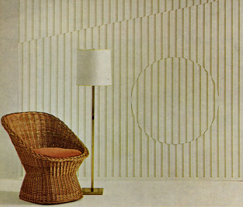 60s DIY relief wall treatment