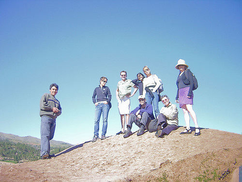 Our party and our guide, Agusto, at Sacsayhuaman