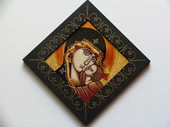 Maica Domnului cu Pruncul (cod MDP7) (Marius Paciu Art) Tags: icons jesuschrist religiousart byzantineicons cultobject religiousrepresentations