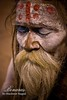 Meditating Saadhu (Shashwat_Nagpal) Tags: india indian varanasi benaras shashwat priestnagpalsaadhusadhuaghoribodypaintvaranasi