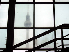Television Tower Berlin (smokykater - 330k+ views) Tags: light berlin tower dusty wet glass television fog stairs canon germany tv interestingness ysplix dazzlingshots smokykater