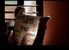 in lime light (sash/ slash) Tags: old light news window lady reading newspaper glow mother grand sash limelight amma sajesh