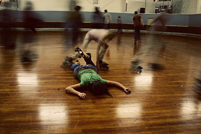 74: On the floor.*
