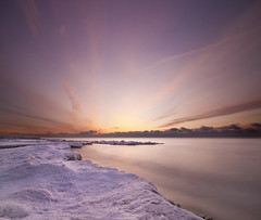 The Beach at Dawn (Mute*) Tags: winter lake snow toronto ontario ice beach landscape dawn beaches sigma1020mm ndfilters nd8 contentawarescaling