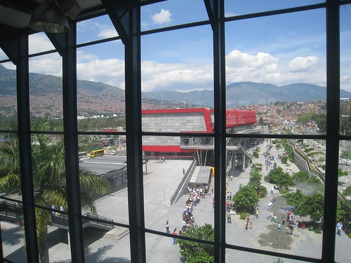 View of the city from the Universidad metro platform