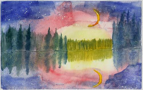 Night Sky (watercolor)