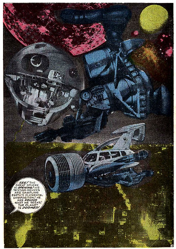 Jack Kirby photomontage from Fantastic Four #48 (March 1966)