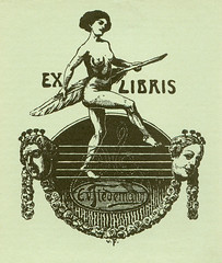 [Bookplate of E.V. Tiedemann] (Pratt Institute Library) Tags: roses women garlands quills bookplates prattinstitutelibraries
