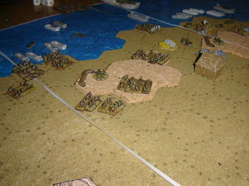 Marines sweep past bunkers